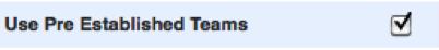 Team Checkbox