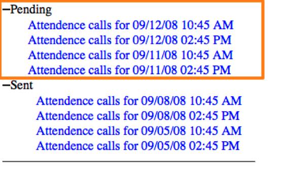 Calling lists